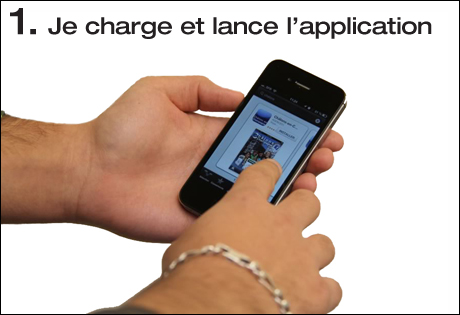 Je charge et lance l'application